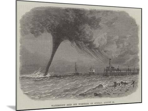 Waterspout Seen Off Worthing on Sunday, 21 August--Mounted Giclee Print