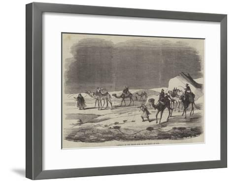 Carriage of the Indian Mail on the Desert of Suez--Framed Art Print