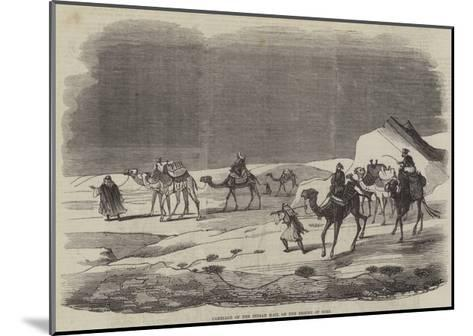 Carriage of the Indian Mail on the Desert of Suez--Mounted Giclee Print