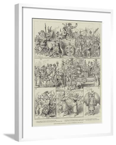 Grand Historic Procession at Berne, Switzerland--Framed Art Print