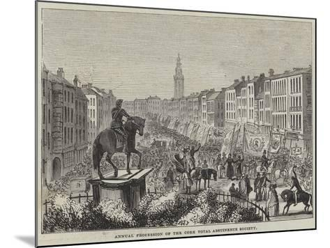 Annual Procession of the Cork Total Abstinence Society--Mounted Giclee Print