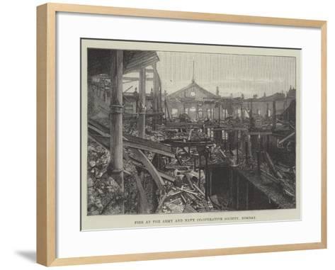 Fire at the Army and Navy Co-Operative Society, Bombay--Framed Art Print