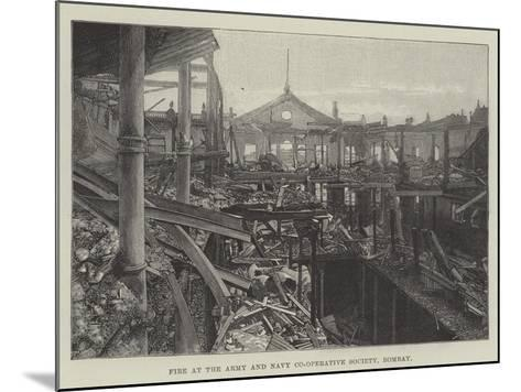 Fire at the Army and Navy Co-Operative Society, Bombay--Mounted Giclee Print