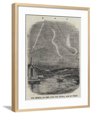 The Meteor, as Seen over the Medina, Isle of Wight--Framed Art Print