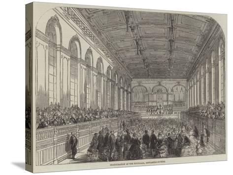 Inauguration of the Townhall, Newcastle-On-Tyne--Stretched Canvas Print