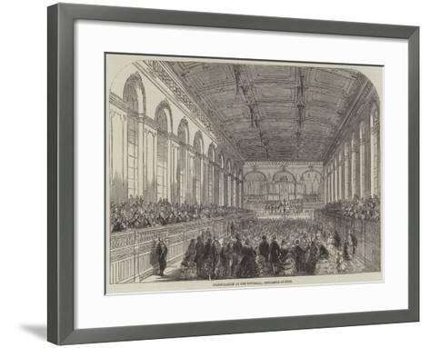Inauguration of the Townhall, Newcastle-On-Tyne--Framed Art Print