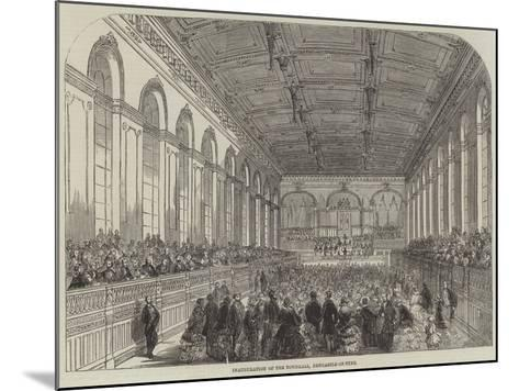 Inauguration of the Townhall, Newcastle-On-Tyne--Mounted Giclee Print