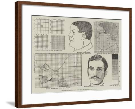 Method of Transmitting Sketches by Telegraph or Signals--Framed Art Print