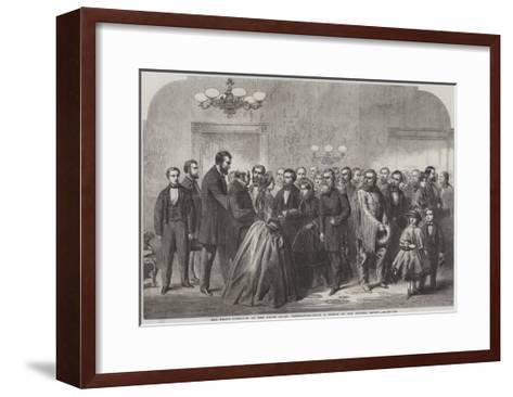 New-Year's Reception at the White House, Washington--Framed Art Print