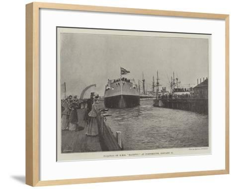 Floating of HMS Majestic at Portsmouth, 31 January--Framed Art Print