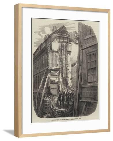 Ruins of the Fallen Houses in Pilgrim-Street, City--Framed Art Print