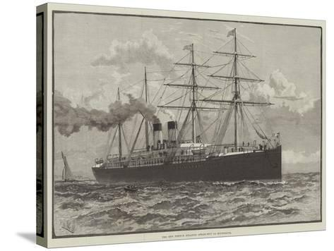 The New French Atlantic Steam-Ship La Bourgogne--Stretched Canvas Print