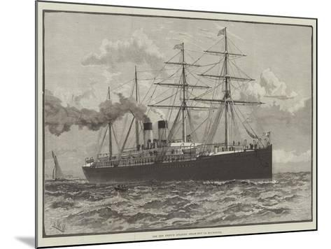 The New French Atlantic Steam-Ship La Bourgogne--Mounted Giclee Print