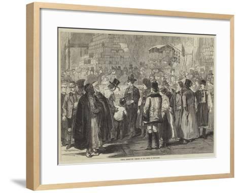 Vienna Exhibition, Looking at the Model of Jerusalem--Framed Art Print