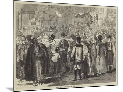 Vienna Exhibition, Looking at the Model of Jerusalem--Mounted Giclee Print