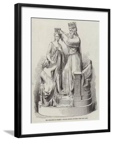 The Coronation of Esther, William Beattie, Sculptor--Framed Art Print
