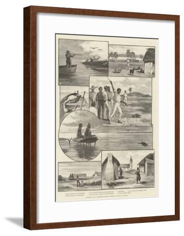 Sketches at an Australian Mission Station--Framed Art Print