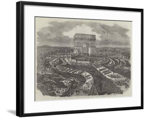 The Grand Fete of Fraternity, at Paris--Framed Art Print
