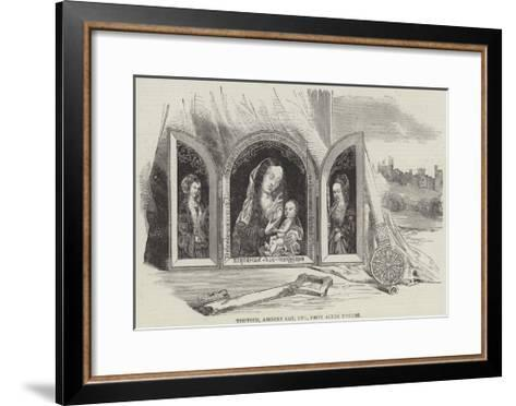 Triptych, Ancient Key, Etc, from Alton Towers--Framed Art Print