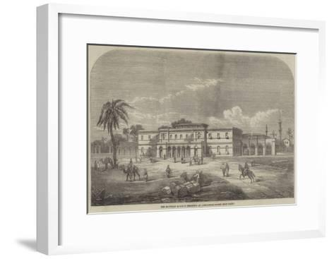 The Egyptian Railway Terminus at Alexandria--Framed Art Print