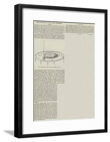 The Rotation of the Earth Rendered Visible--Framed Art Print