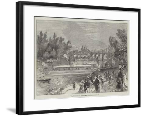 Swan-Upping on the Thames, from Brentford Ait--Framed Art Print