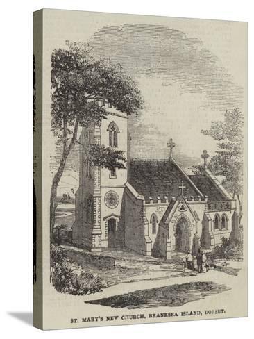 St Mary's New Church, Branksea Island, Dorset--Stretched Canvas Print