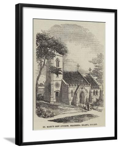 St Mary's New Church, Branksea Island, Dorset--Framed Art Print