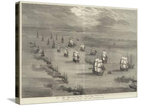 Departure of the Baltic Fleet from Spithead--Stretched Canvas Print