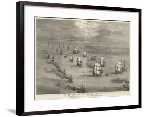Departure of the Baltic Fleet from Spithead--Framed Art Print