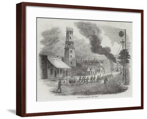 Fire-Engine at Cincinnati, United States--Framed Art Print