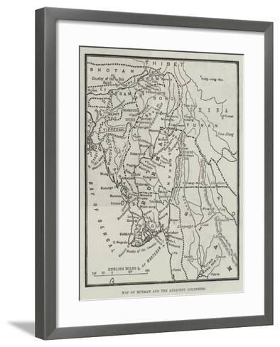 Map of Burmah and the Adjacent Countries--Framed Art Print