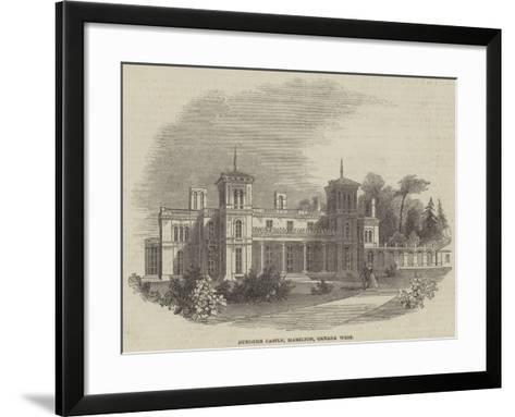 Dundurn Castle, Hamilton, Canada West--Framed Art Print