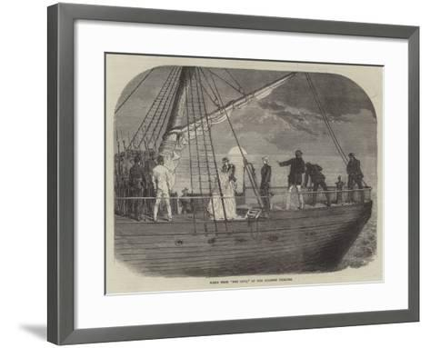 Scene from For Love, at the Holborn Theatre--Framed Art Print