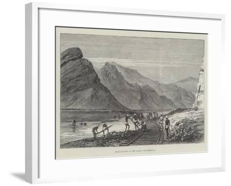 Plate-Laying on the Bolan Pass Railway--Framed Art Print
