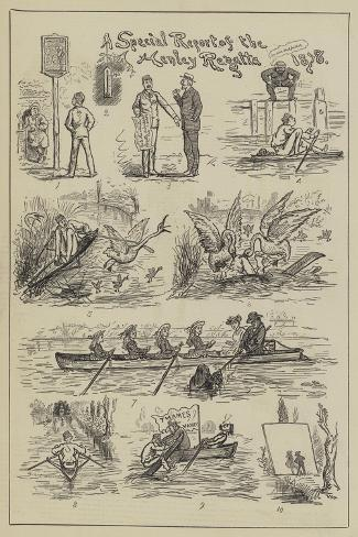 A Special Report of the Henley Regatta, 1878--Stretched Canvas Print