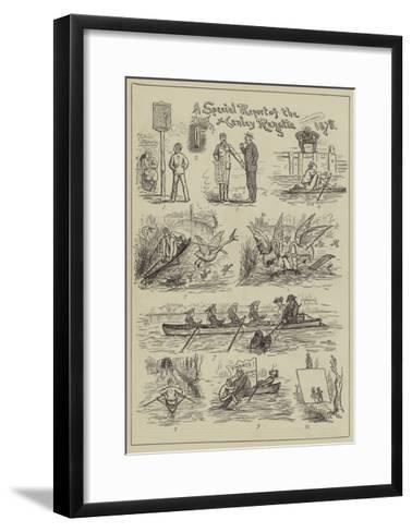 A Special Report of the Henley Regatta, 1878--Framed Art Print