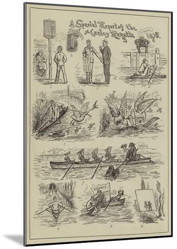 A Special Report of the Henley Regatta, 1878--Mounted Giclee Print