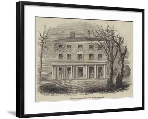 The Asylum for Idiots, Park House, Highgate--Framed Art Print