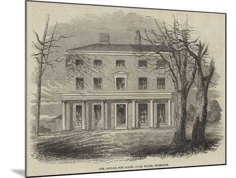 The Asylum for Idiots, Park House, Highgate--Mounted Giclee Print
