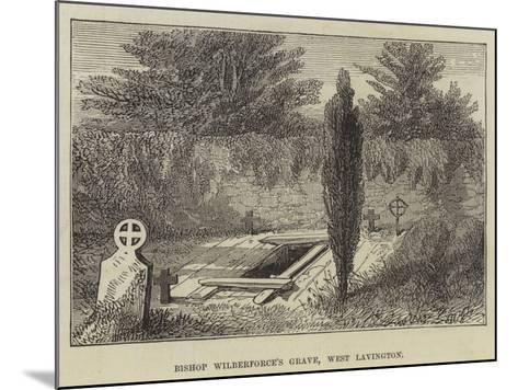 Bishop Wilberforce's Grave, West Lavington--Mounted Giclee Print