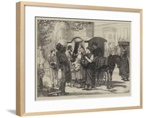 Sketches in Berlin, a Seltzer-Water Cart--Framed Art Print