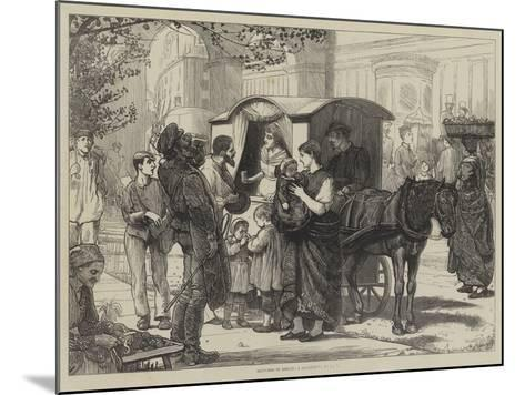 Sketches in Berlin, a Seltzer-Water Cart--Mounted Giclee Print