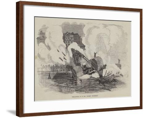 The Blowing Up of the Cricket Steam-Boat--Framed Art Print