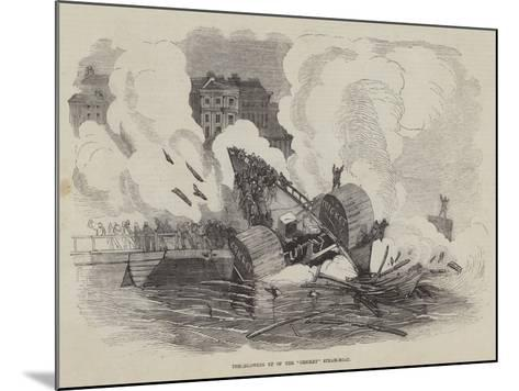 The Blowing Up of the Cricket Steam-Boat--Mounted Giclee Print
