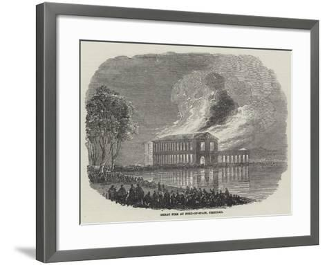 Great Fire at Port-Of-Spain, Trinidad--Framed Art Print