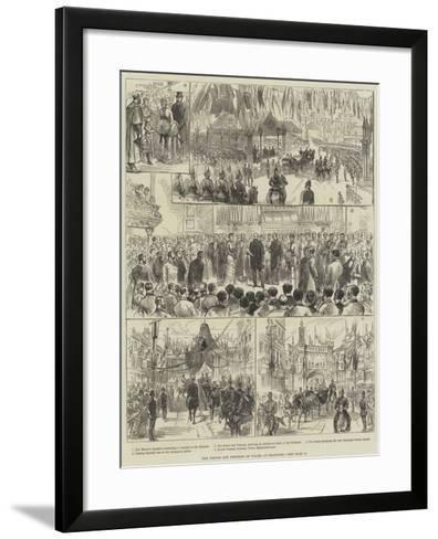 The Prince and Princess of Wales at Bradford--Framed Art Print