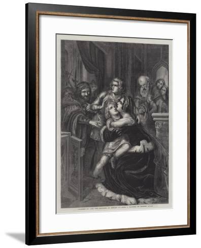 Richard III and the Children of Edward IV--Framed Art Print