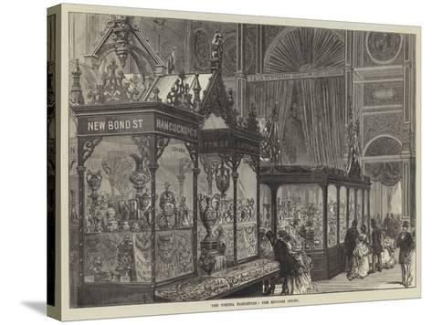 The Vienna Exhibition, the English Court--Stretched Canvas Print