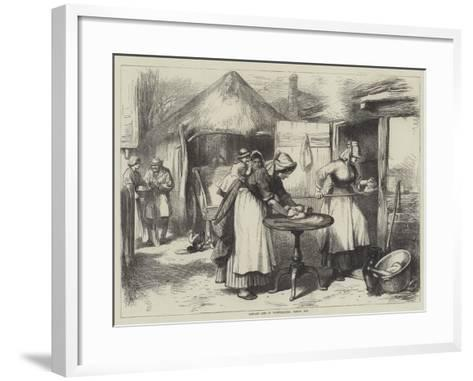 Cottage Life in Warwickshire, Baking Day--Framed Art Print